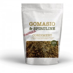 Gomasio with seeds, spirulina and paprika pack of 180g
