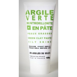 Green montmorillonite clay paste for oily skin