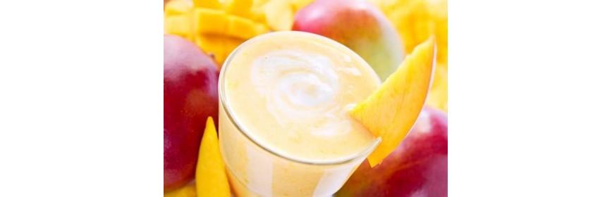 Mango Cream with spirulina