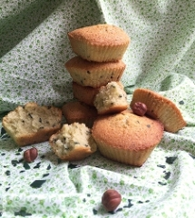 Financiers-noisettes-spiruline
