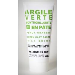 Green montmorillonite clay paste for oily skin