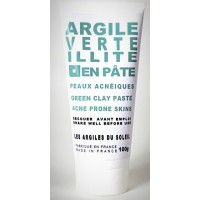 Illite green clay paste for acne skin