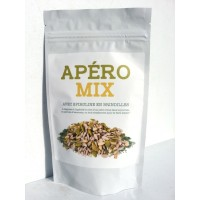 Organic mix aperitif with spirulina in twigs