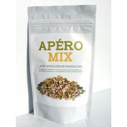Apéro mix bio avec spiruline en brindilles