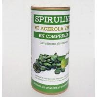 Spiruline et acérola vert en comprimés