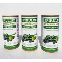 Cure de 3 mois Spiruline et acérola vert bio en comprimés à petit prix vitamine C et fer