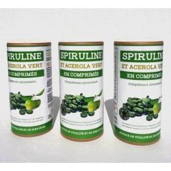 Spiruline et acérola vert en comprimés à petit prix