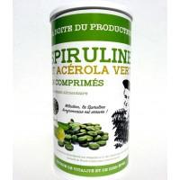 La boite du producteur de spiruline, spiruline et acérola bio 900 comprimés
