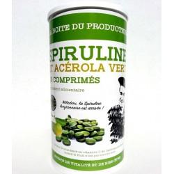 La boite du producteur de spiruline et acérola vert bio en comprimé