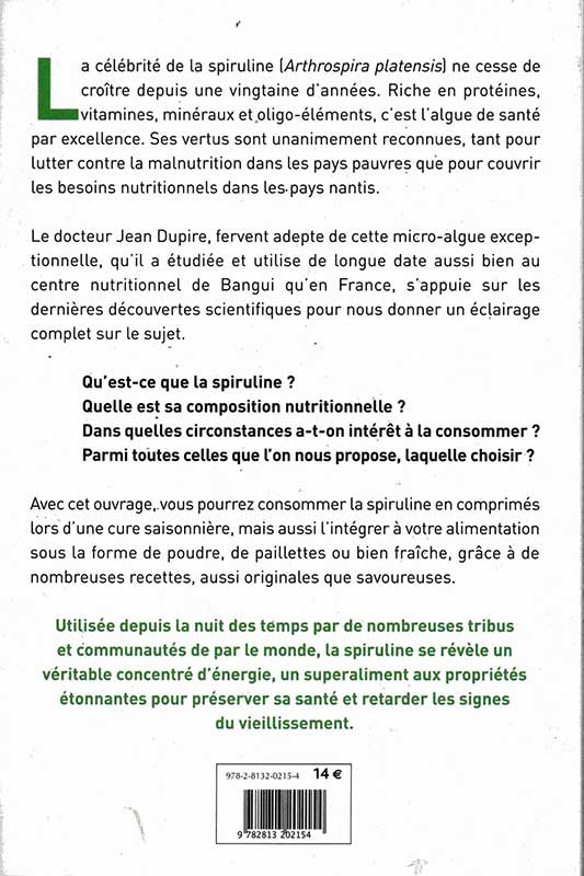 Dupire la spiruline un super aliment