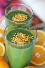 spiruline et jus d'orange